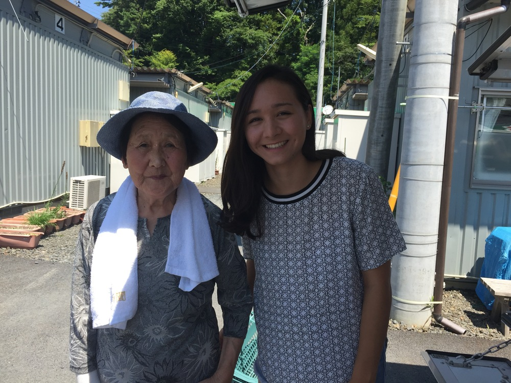A kind woman who agreed to take a photograph with me.
