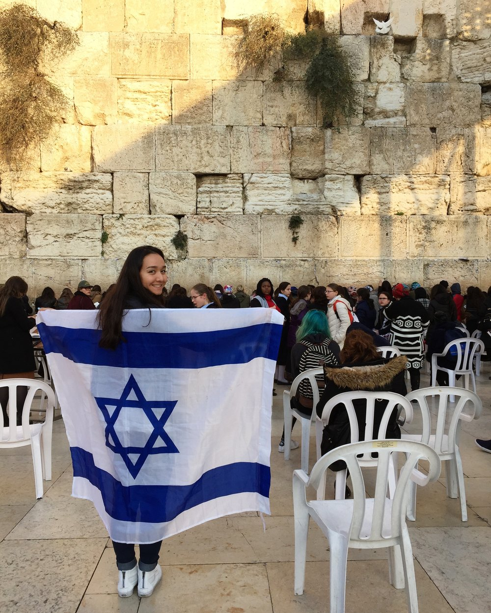 At the Western Wall, Jerusalem.