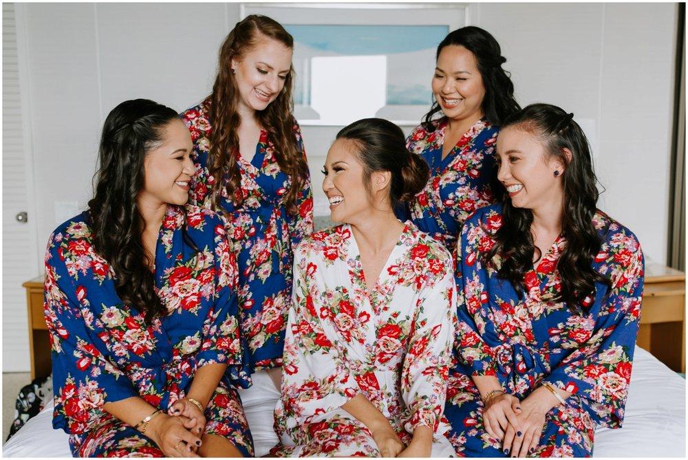 floral robes, Halekulani Hotel Wedding Photos, Waikiki Hawaii Wedding Photographer, Hawaii Wedding Photographer, Hawaii Wedding Photos, Hotel Wedding in Hawaii, Halekulani Hotel, Waikiki Wedding