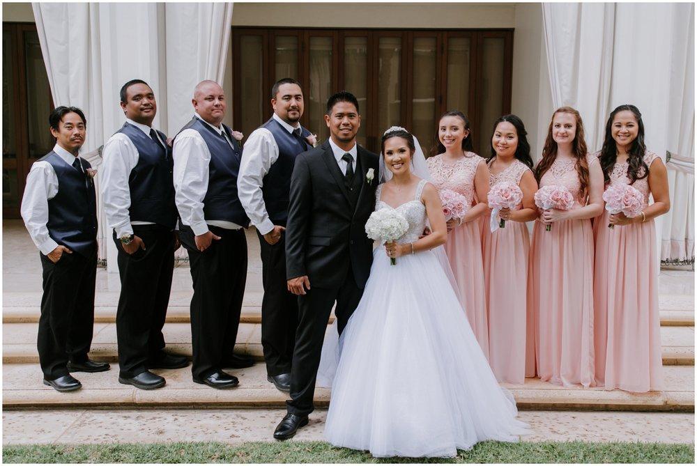 bridal party, Halekulani Hotel Wedding Photos, Waikiki Hawaii Wedding Photographer, Hawaii Wedding Photographer, Hawaii Wedding Photos, Hotel Wedding in Hawaii, Halekulani Hotel, Waikiki Wedding