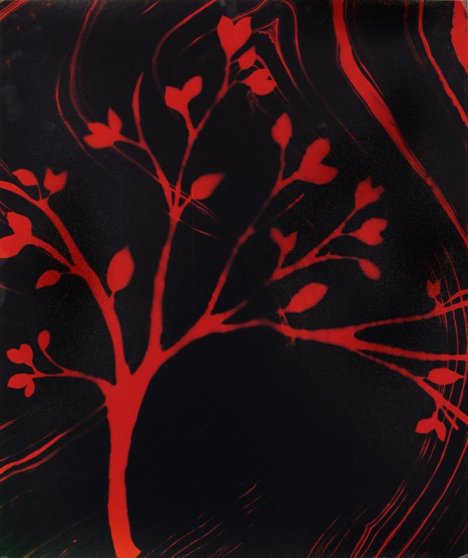 "T32, ""Crimson Tree"", 24"" x 20"""