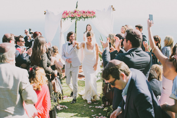 Wedding with Floral Chuppah by Kate Healey