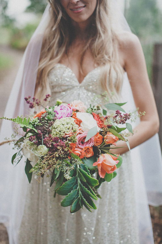 Bride Holding her Kate Healey Designed Bouquet