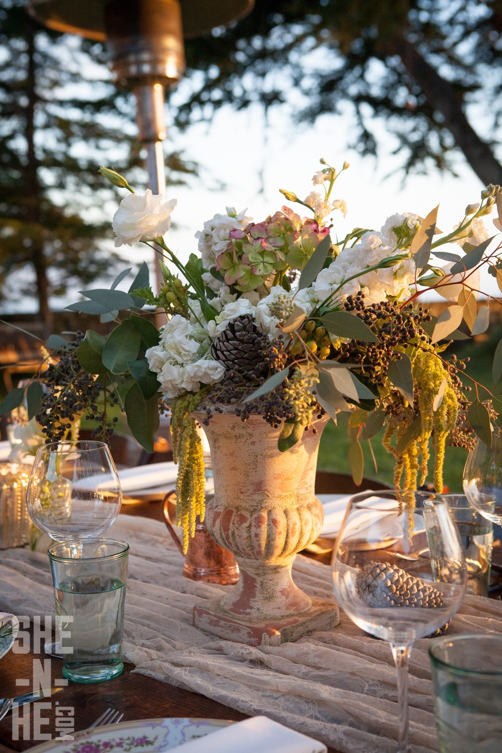Wedding Table Flowers for Big Sur Wedding