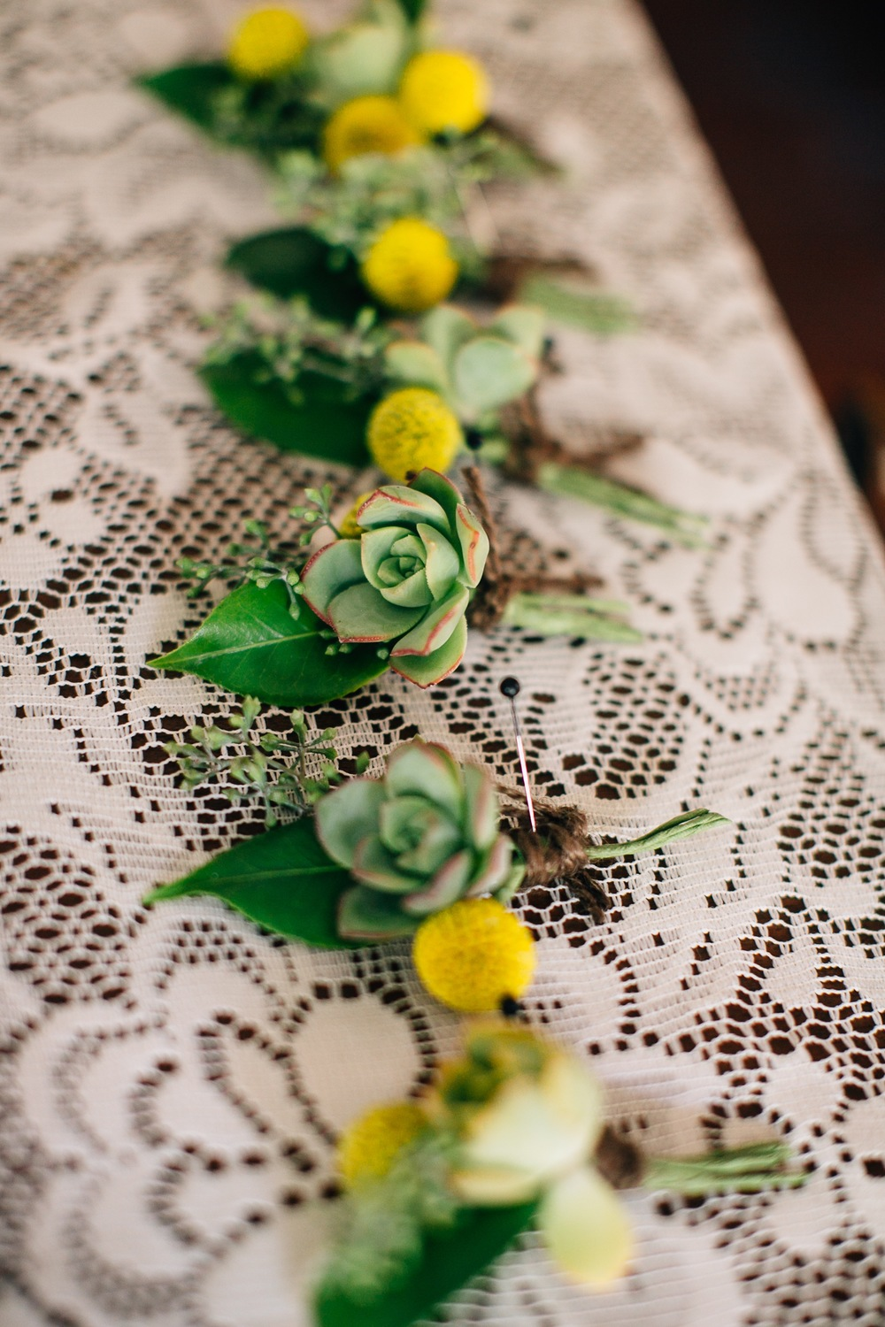 Boutonnieres Designed by Kate Healey