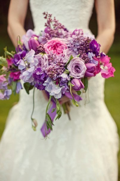 Lushly Purple Bouquet by Kate Healey