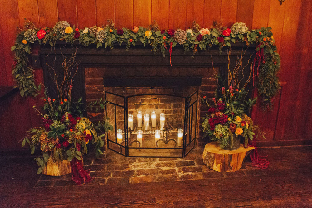 Fireplace Garland by Big Sur Flowers