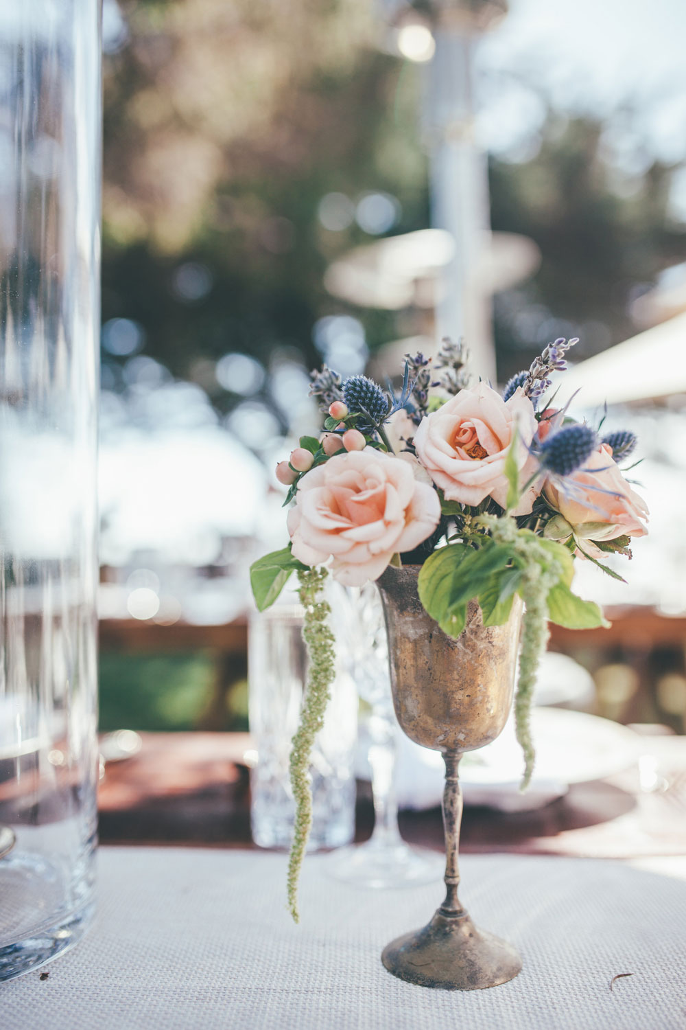 Antique Silver Wedding Dinner Decor