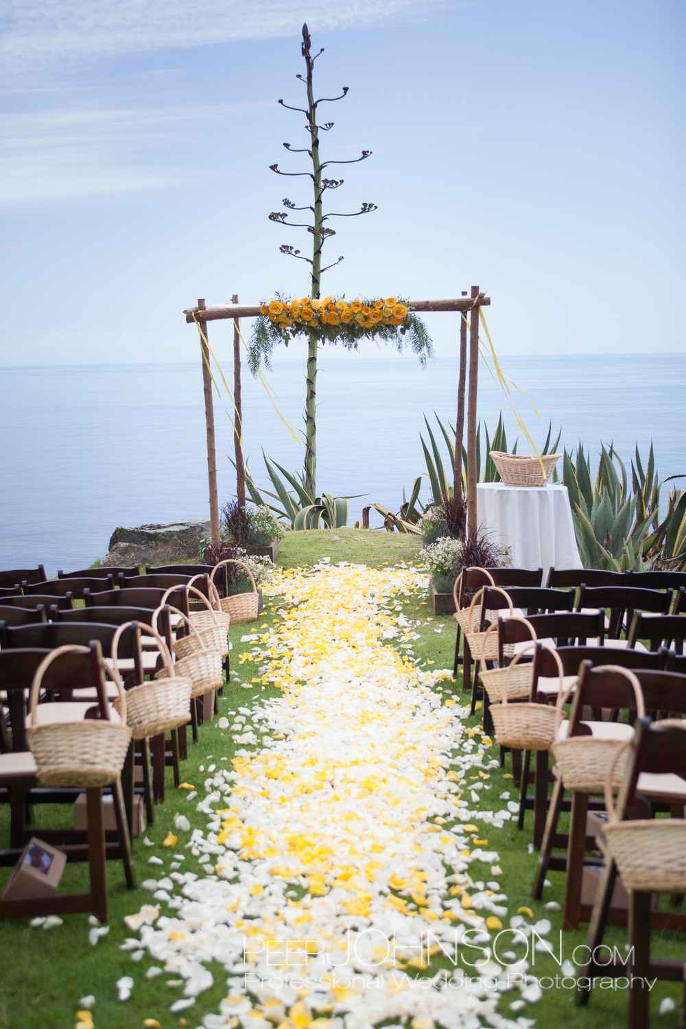 Wedding Flowers and Petals by Big Sur Flowers
