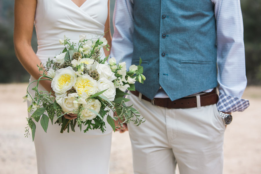 Large White and Green Bridal Bouquet by Kate Healey