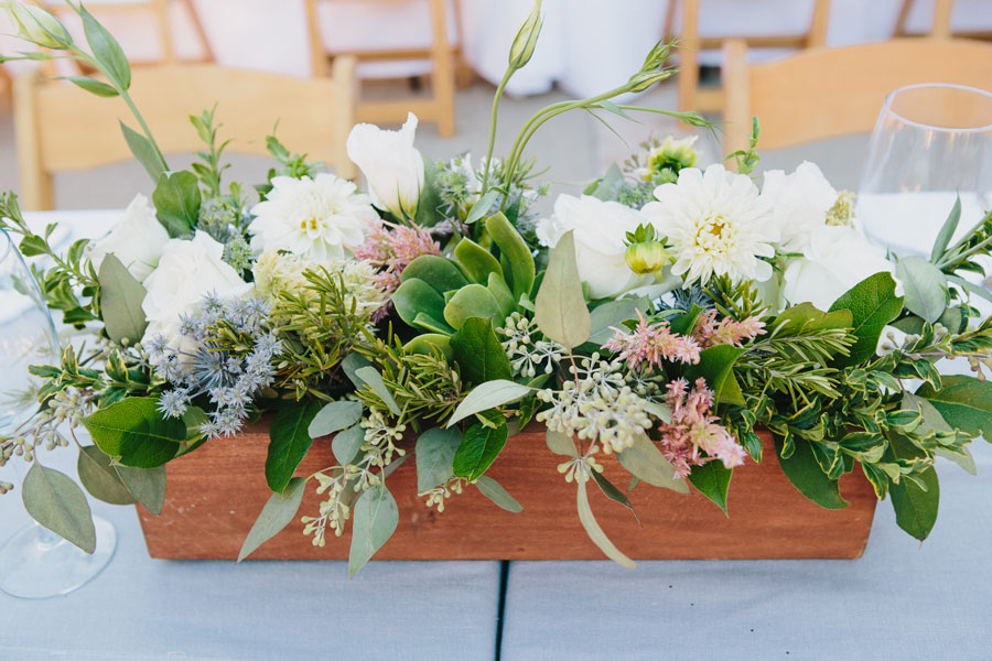 Wedding Table Decor by Big Sur Flowers