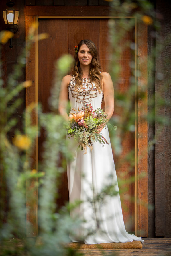 Bride Holding a Bouquet by Kate Healey