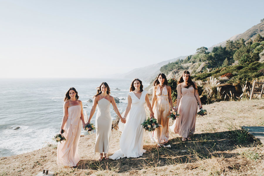 Bridesmaids with Bouquets by Kate Healey