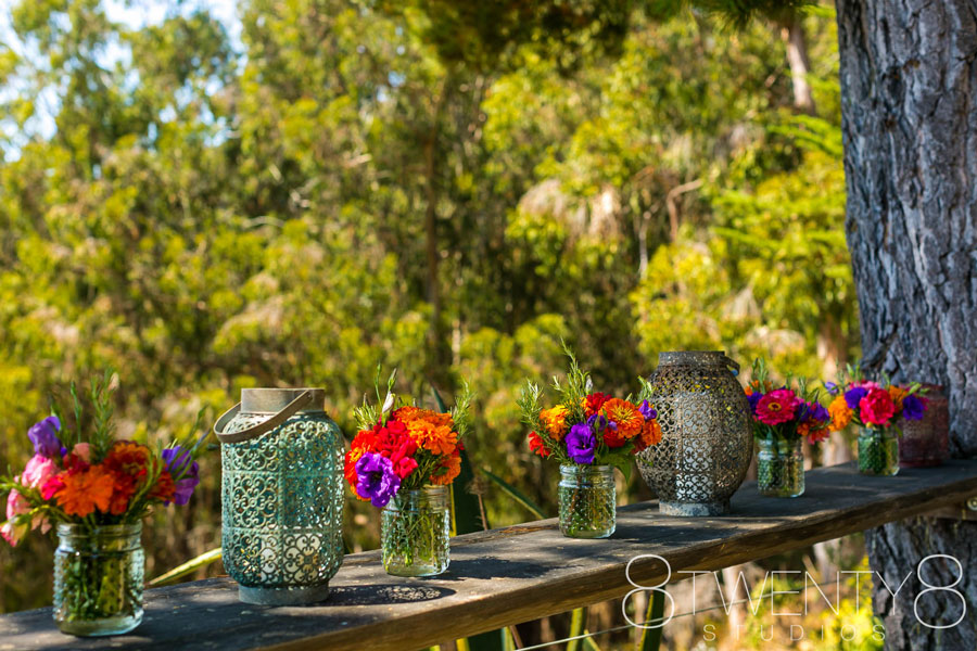 Lanterns and Flower Decor by Big Sur Flowers