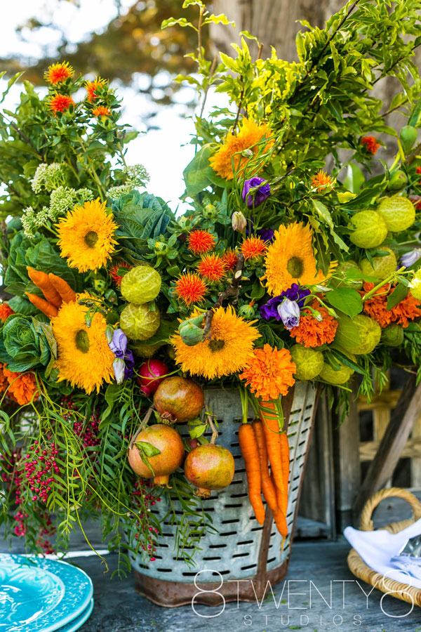 Big Bouquet of Flowers and Veggies by Big Sur Flowers