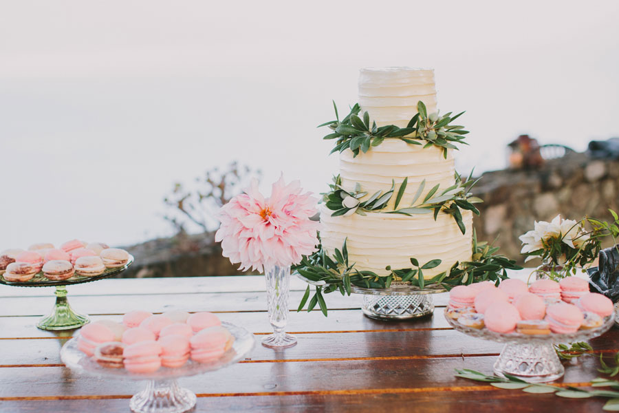 Pink and Green Garnish Wedding Sweets
