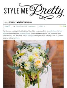 Rustic Summer Monterey Wedding