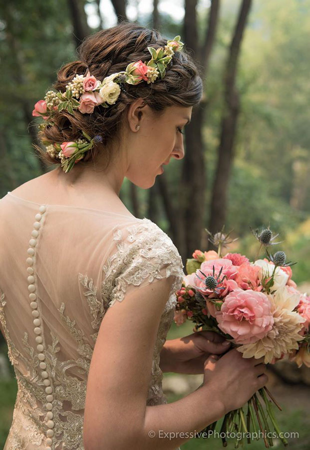Lace and Classic Creams and Pinks with Flowers by Kate Healey