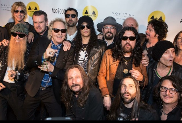 Disreputable Few at a Adopt the Arts event with Billy Gibbons, Duff, Slash, Matt Sorum, Billy Duffy, Steve Lukather, Damon Fox, Jimmy Vivino and Butch Trucks.