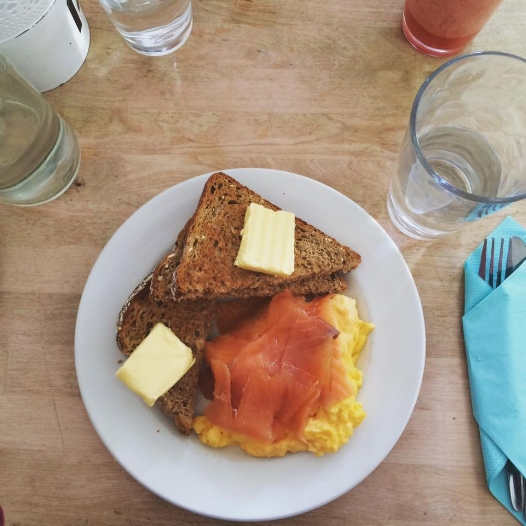 One of my fav here, Smoked Salmon and Scrambled Eggs Toast. The scrambled eggs at North Point is really good.