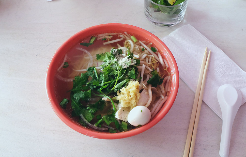 3.7/5 stars for their Pho Ga: unlike the broth, the actual chicken is quite disappointing ($10)
