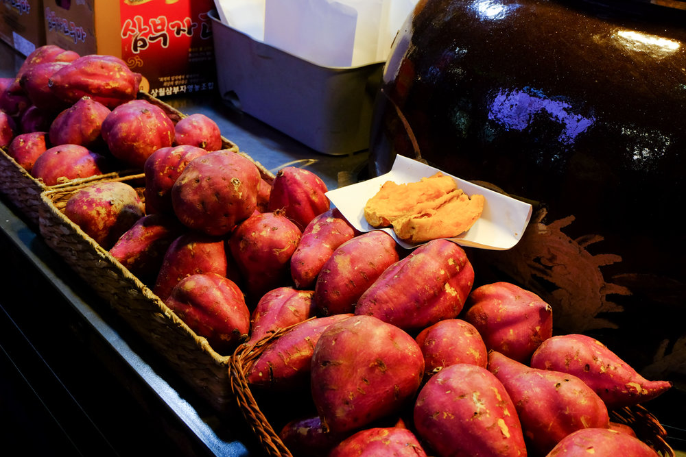 Or get some roasted sweet potato as a healthier alternative