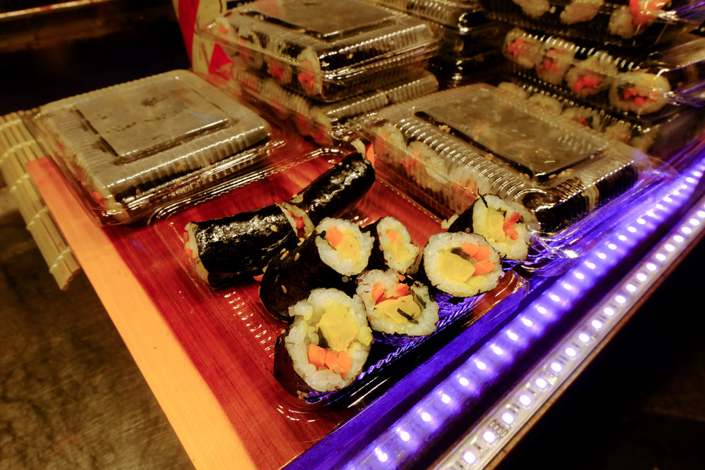 Ready to eat kimbap is everywhere
