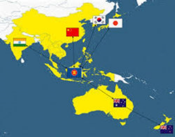 Regional Comprehensive Economic Partnership nations in yellow