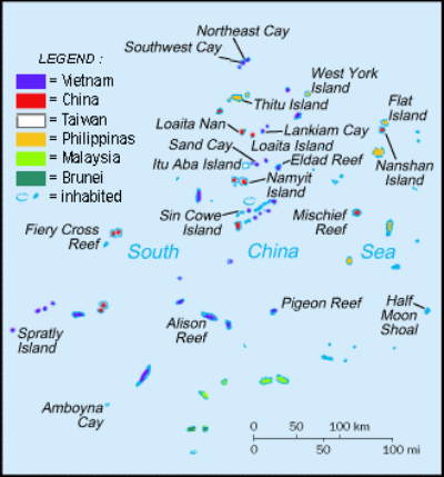 Many nations have military presence in the South China Sea