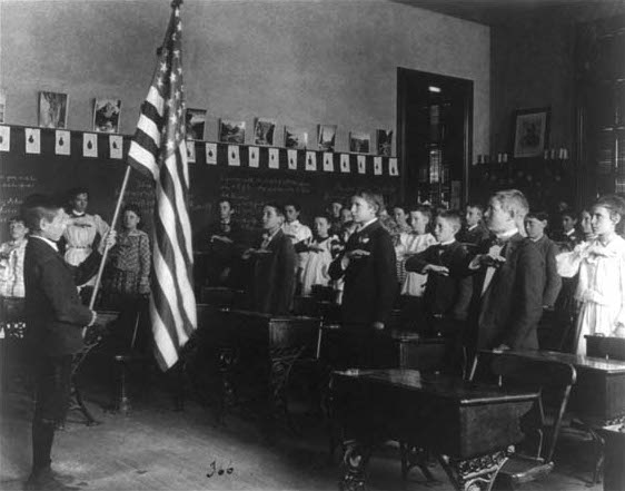 Students Reciting the 'Pledge Of Allegiance' in 1899