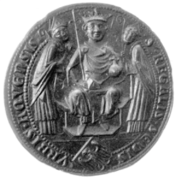 The mediaeval city seal of Aachen on which the design of the Charlemagne prize medal is based