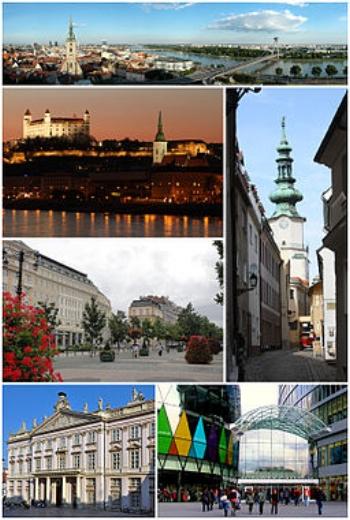 Bratislava city montage (Wikipedia)