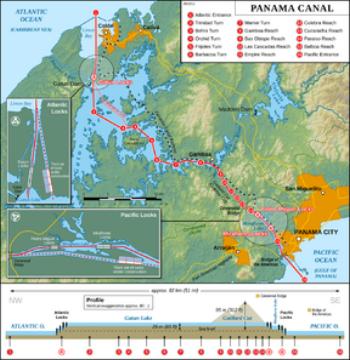 Panama Canal (Thomas Römer/OpenStreetMap data)