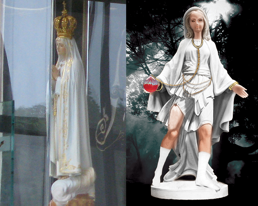 Fatima Statue and Image of That the Children Saw