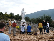 Medjugorje Icon at Podbrdo, place of apparition (Beemwej)