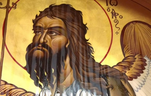 The weeping icon of St. John the Baptist. Courtesy photo