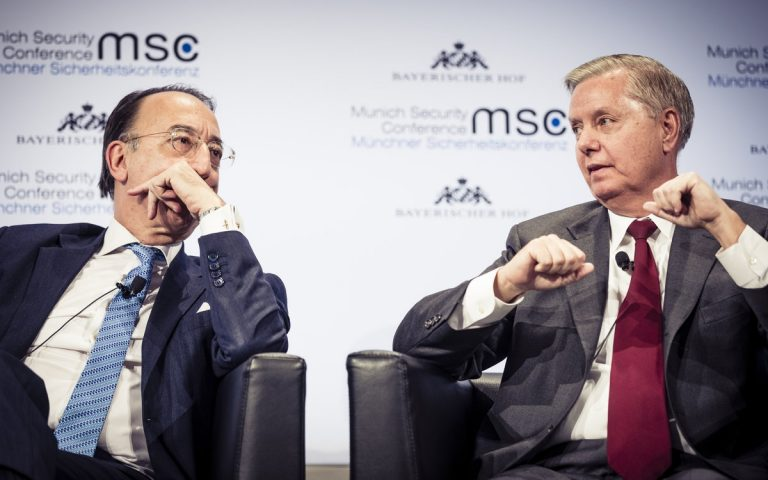 Jorge Domecq and Lindsey Graham (MSC/Mueller)