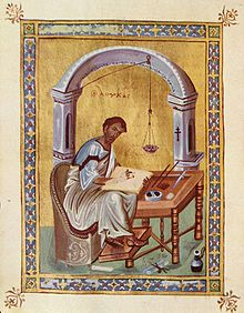 10th Century Representation of Gospel Writer Luke