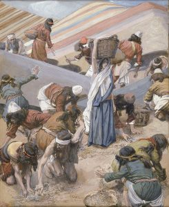 'The Gathering of the Manna' (Tissot c. 1900)