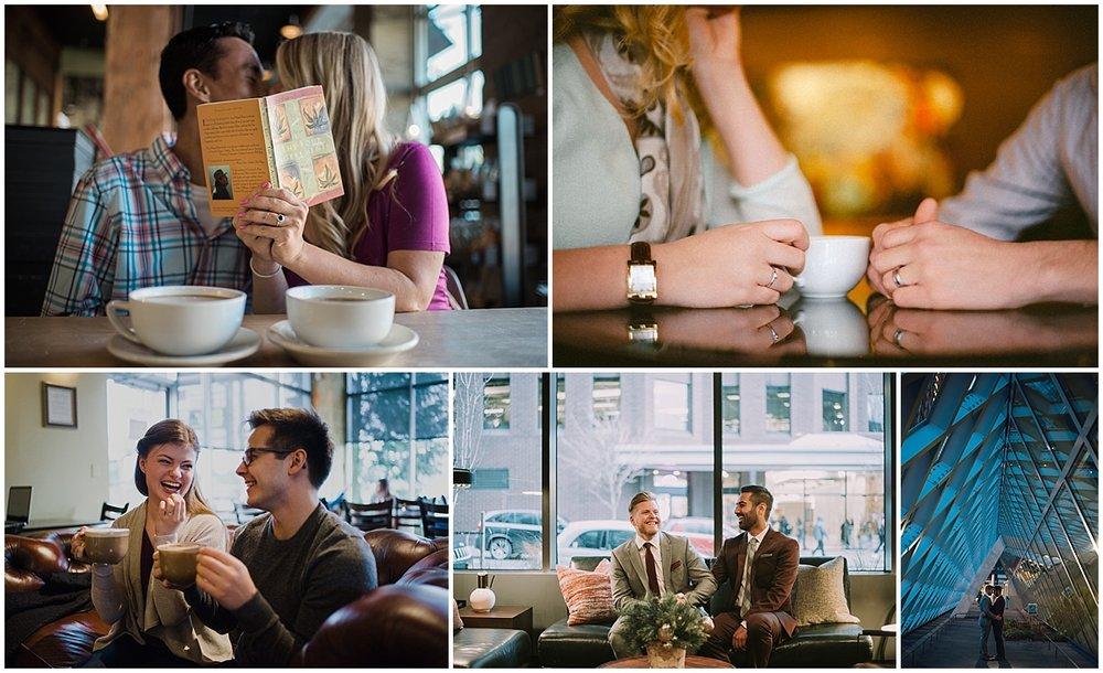 COFFEE SHOPS, SEATTLE LIBARY + HOTEL LOBBIES