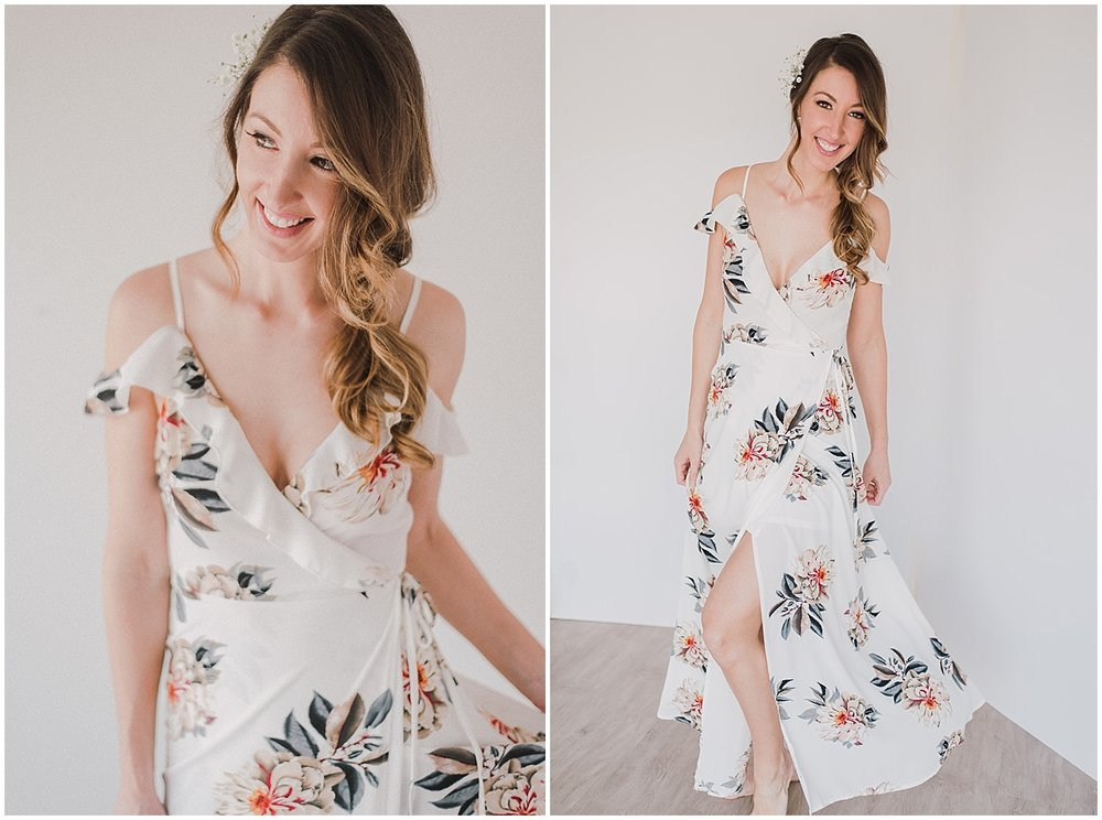 STYLE B  - WHITE FLORAL MAXI Size 6