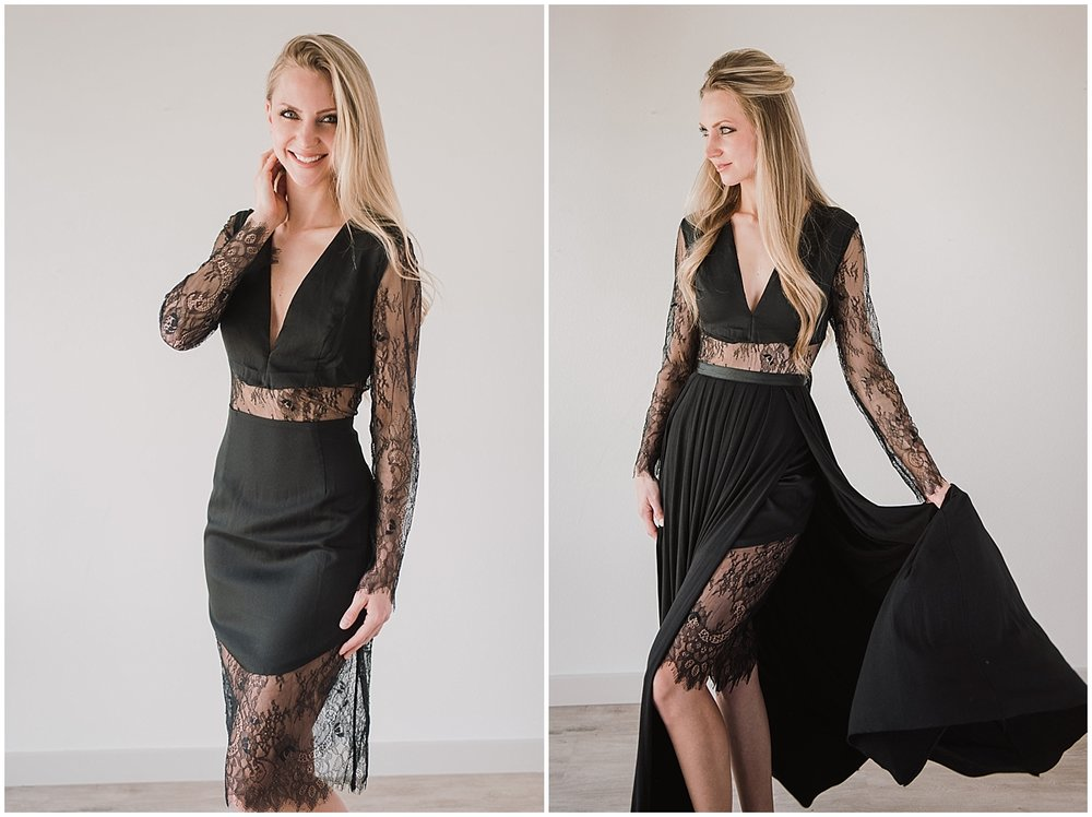 STYLE E - TWO PIECE BLACK LACESize 8