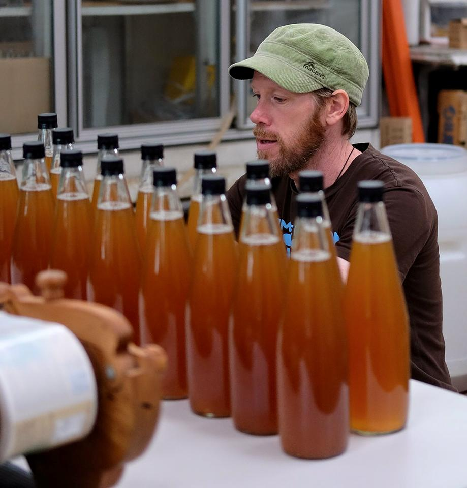 Wabi O Kombucha being bottled