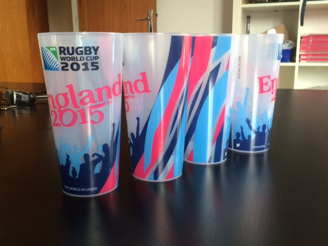 Reusable cups from England Rugby World Cup Image from Sportbuzzbusiness