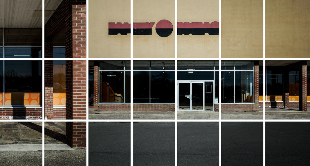 Family Dollar,   2016. 21 color prints on plastic board wall mounted, 416X224 cm.