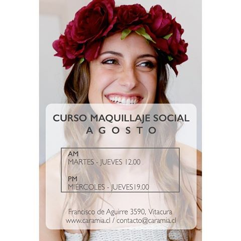 Es Viernes y tenemos noticias *** Se abren los cursos de Maquillaje Profesional de AGOSTO || Dos Horarios AM-PM || Escríbenos a contacto@caramia.cl 💃🏼👯 Nos vemos  #makeup #makeuppro  #makeupclass #caramiachile #maquillaje #maquillajesocial #santiago #chile