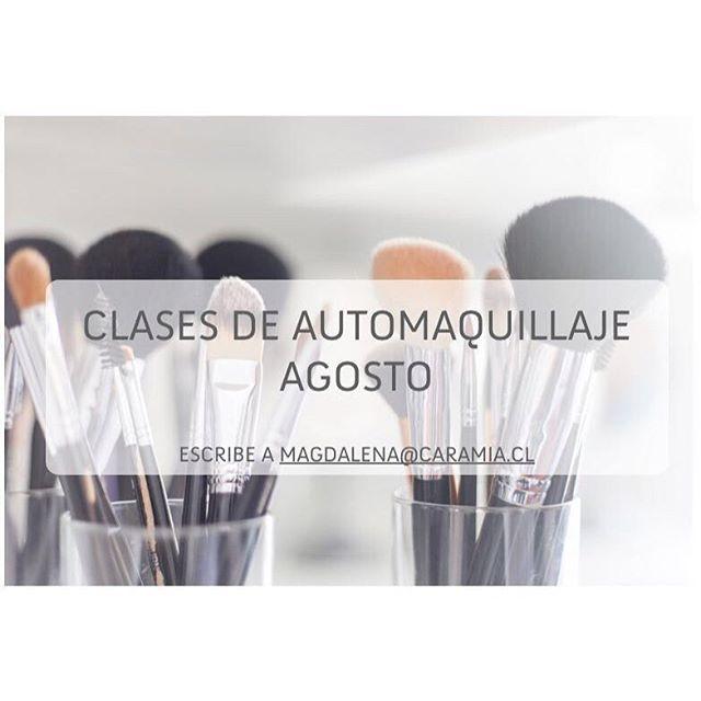 Buenos días!! Les queremos contar que desde la primera semana de Agosto, la Maida empieza a hacer clases de Automaquillaje ✌🏼️Para reservar tu hora escribe a magdalena@caramia.cl 💫💫 #makeup #maquillaje #caramiachile #clases #automaquillaje #santiago