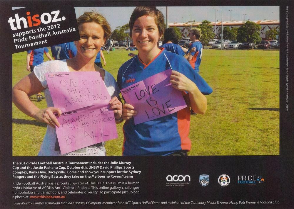 Pride Football Australia 2012