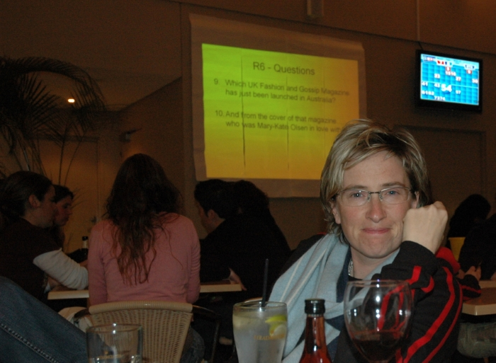 Photo: Michelle MacMahon at the Golden barley trivia night c. 2007