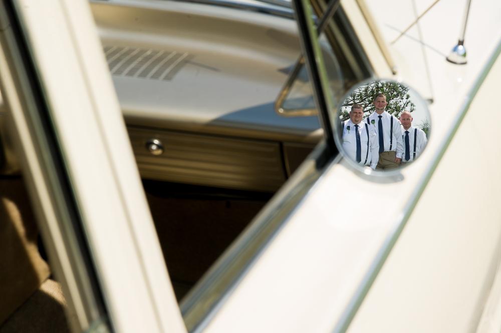 1-cincinnati-wedding-groomsmen-reflection-car-first-millville-baptist-church.jpg